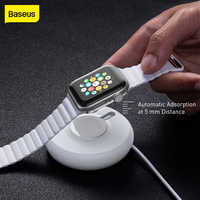 Baseus Rotonda Caricatore Senza Fili Per iPhone Orologio 4 3 2 1 QI Caricatore Senza Fili Per Apple Orologio di Carica Wireless Con 1 metro Cavo Usb