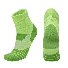 Спортивные носки для гонок, пеших прогулок, MTB, шоссейных, велосипедных носков, дышащие Хлопковые гольфы для велоспорта, геометрические футбольные носки