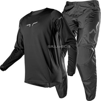 Black Set Delicate Fox Motorcycle Adult 180 Racing Race Motocross MX MTB ATV Suit Automotive Kit