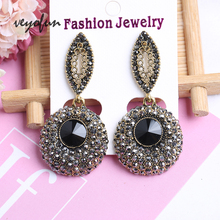 Veyofun Trendy Rhinestone Drop Earrings for Women ZA 2019 New Fashion Jewelry
