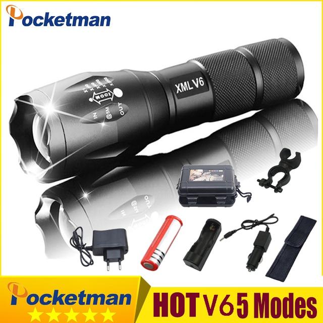 2020 quente ultra brilhante v6 led lanterna tática luz de alumínio zoomable lanterna tocha lâmpada para 18650 ou 3 * aaa z75
