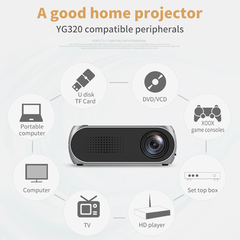 Yg320 built-in bateria mini projetor yg300 atualizar portatil led proyector áudio hdmi usb de cinema em casa media player beamer-1