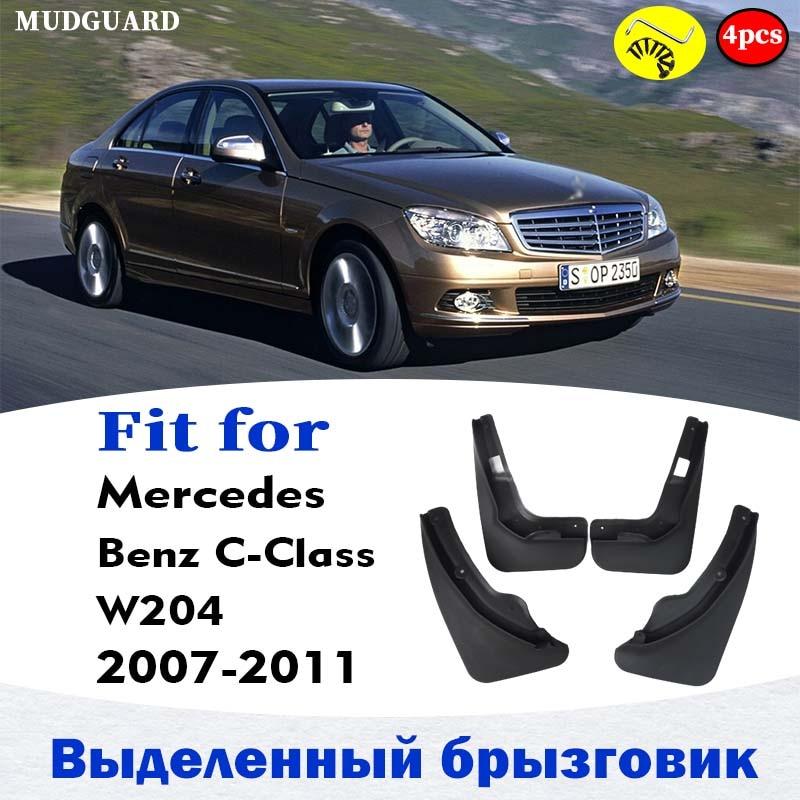 Брызговики для Mercedes Benz C class W204, брызговики, брызговики, щитки, брызговики, брызговики, аксессуары для автомобиля 2007-2011
