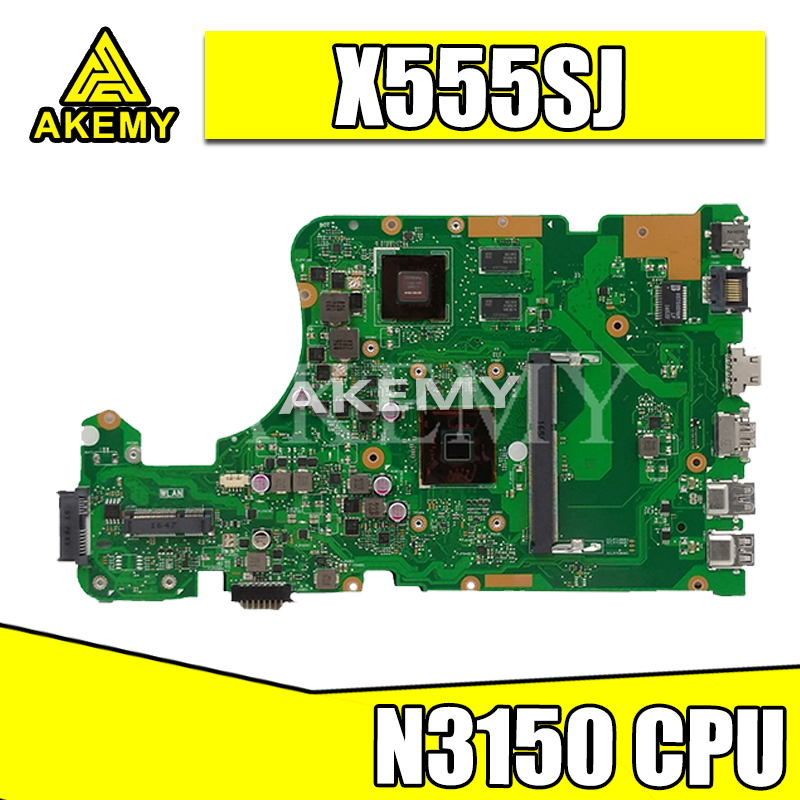 X555SJ Notebook Motherboard Für For Asus X555 X555S X555SJ A555S Motherboard N3150 CPU Mainboard 100% Getestet Gut und Motherboard
