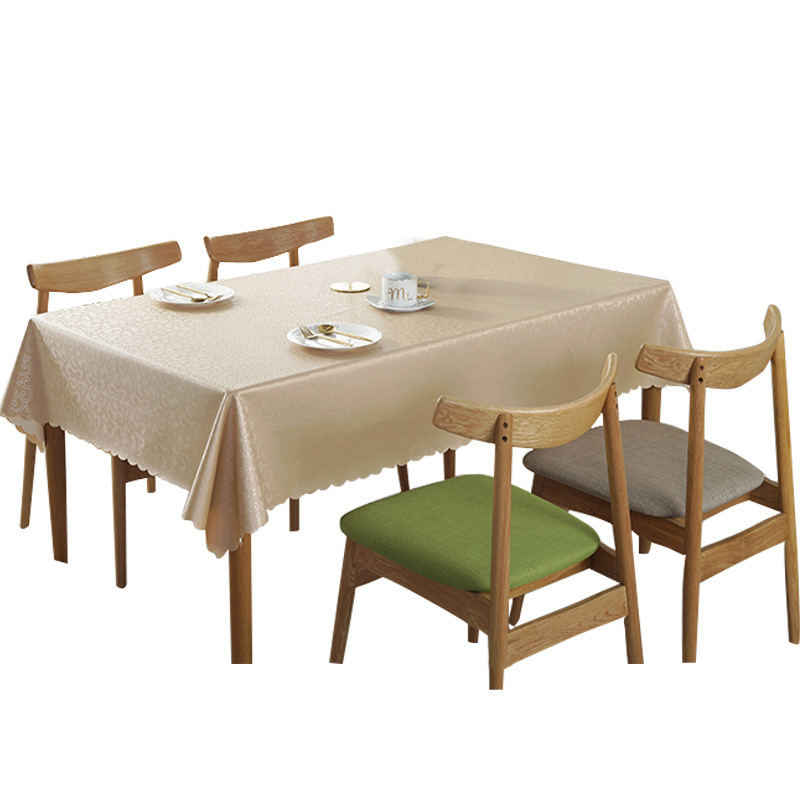 Waterproof Defence Oil Table Cloth Luxury Jacquard printed flower Dinning Table Cover Rectangle PVC Art Tea Table Cover in Tablecloths from Home Garden