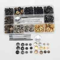 Métal quatre boutons 6 couleur outil d'installation bouton pression haute qualité métal pur cuivre bouton 120 ensembles
