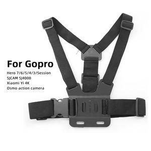 Image 3 - Go Pro Accessoires Voor Gopro Hero7 6 5 4 3 + Actie Sport Camera Borst Head Hand Wrist Strap Voor xiaomi Yi 4 K Eken Auto Supction