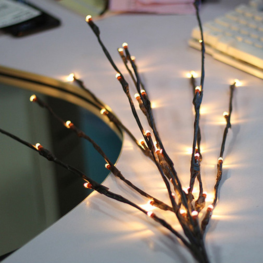 Tree Branch Led Light Christmas Day Pendant Tree Branch Light Battery Light Garden Party Room Decoration Light
