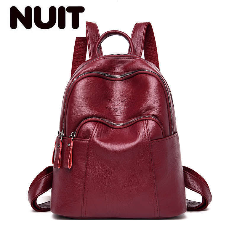 Women Leather Backpack Large Capacity Backpack For School Teenagers Girl Sac A Dos Travel Bagpack Ladies Mochila Feminina