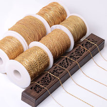5Meters Necklace Chain Wholesale Silver KC Gold Metal Brass Bracelet Chain for Jewelry Making Components Handmade Chain DIY