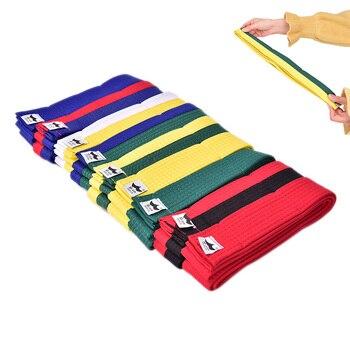 Nuevo cinturón de Taekwondo de alta calidad, duradero, cómodo, doble envoltura, cinturón profesional, artes marciales, todos los colores