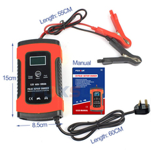 3 Stage Automatic Car Battery Charger, Intelligent Trickle Charger For Charging and Repairing Car and Motorcycle Batteries