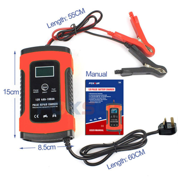 BuddyGo Fully Automatic Car Battery Charger, Intelligent Trickle Charger For Charging and Repairing Car and Motorcycle Batteries