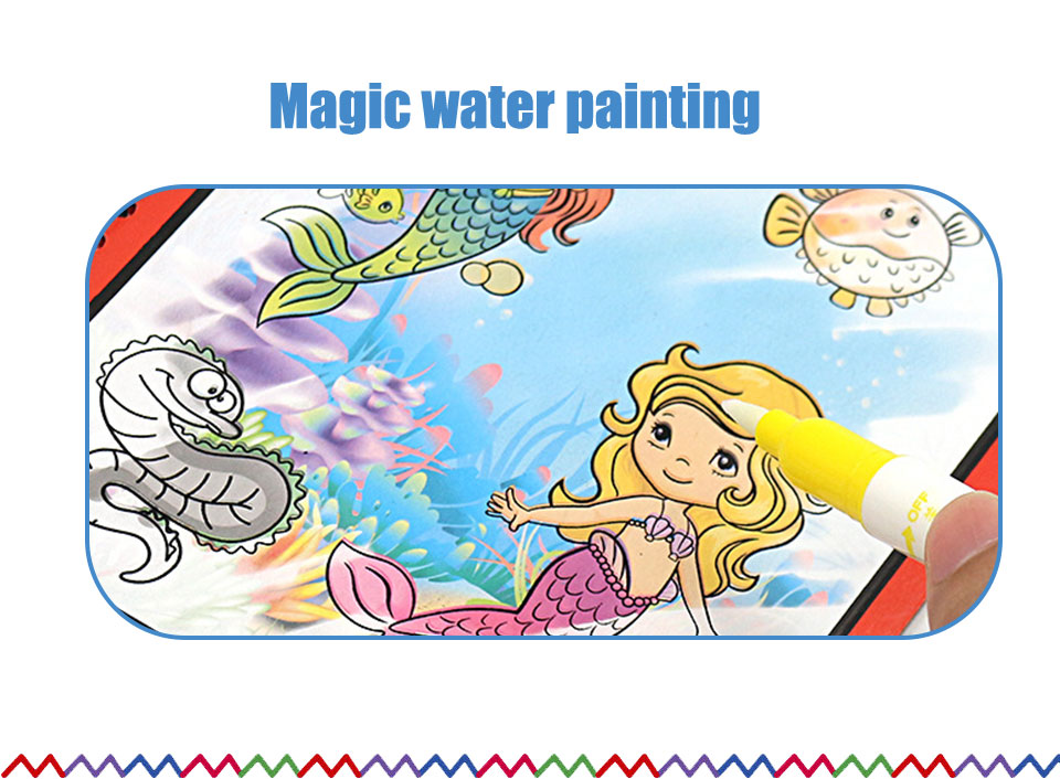 8 Types Montessori Toys Reusable Coloring Book Magic Water Drawing Book Sensory Early Education Toys For Kids Birthday Gift