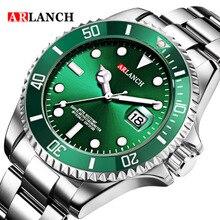 Luxury ARLANCH Mens Watches Sports Analog Calendar Waterproo