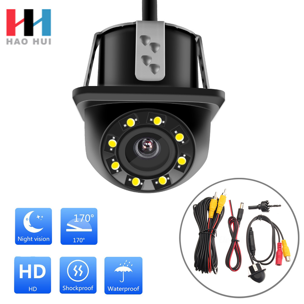 New Style Price Small Straw Hat 8 Lamp Webcam Car Rear View Camera 18.5 Mm Rearview Camera|Vehicle Camera| |  - title=