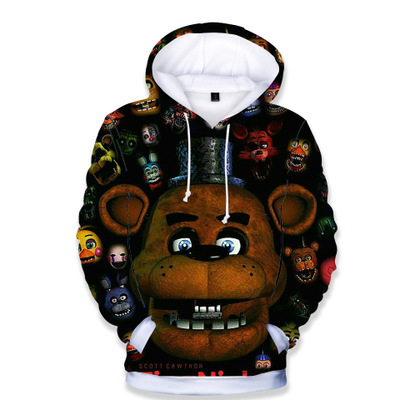 Hoodie Sweatshirt Coat Costume FNAF Cartoon 3d Boy Outwear Five-Nights Tops Cosplay Retail title=