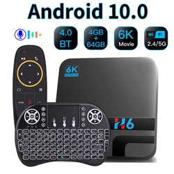 Smart Tv Box Android 10 H616 4GB 32GB 64GB Google Voice Assitant 2.4G 5GHz Wifi Bluetooth 6K 3D media player Set top box