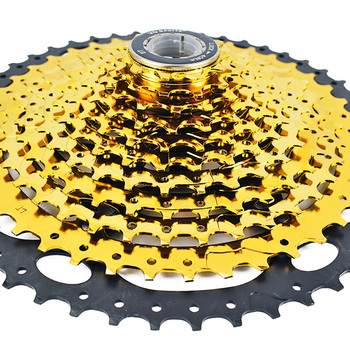 11S 11-50T Golden MTB Bicycle Freewheel Outdoor Bike Cassette 11 Speed Steel Flywheel For Mountain Bicycle Parts