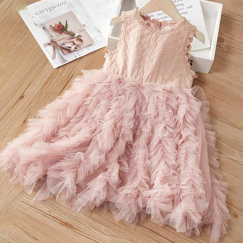 Кружевное платье для девочки bear leader летнее праздничное