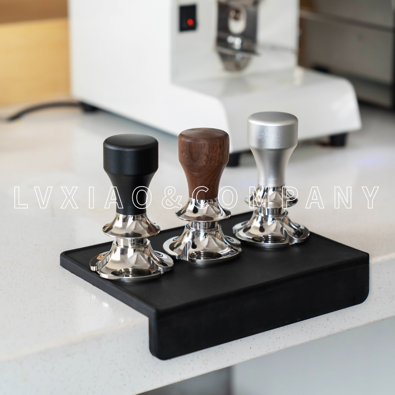 Espresso Barista Tools Coffee Tamper 58mm Press Level Tamper Adjustable Depth With Anti Pressure Deviation Stainless Steel Base