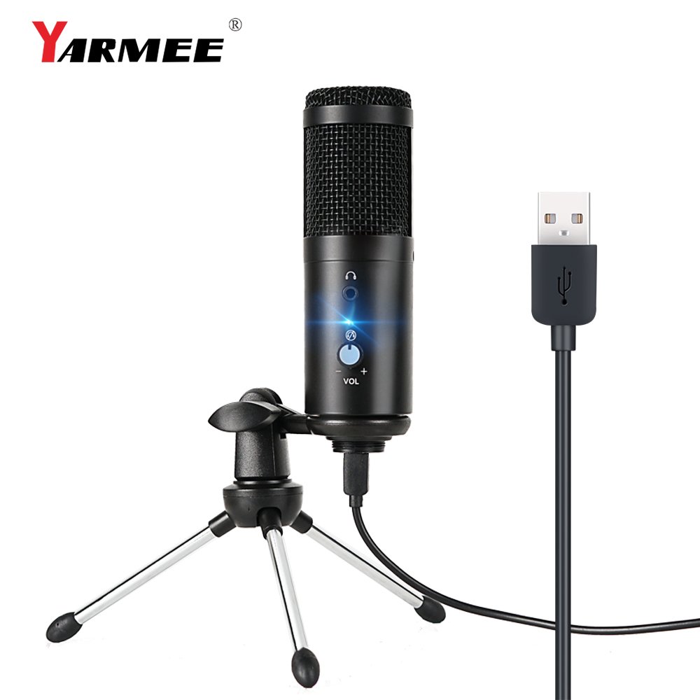 USB microphone condenser computer microfono condensador for PC  for Youtube studio recording internet meeting singing YR04