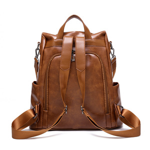 Image 3 - ZMQN Backpack Women 2020 Anti Theft Backpack Mochila Feminina Vintage Bagpack School Leather Bags For Womens Back Pack C131