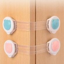 Drawer-Lock Baby-Protector Child Fridge Cabinet Plastic 10pcs/Pack Adhesive Anti-Collision