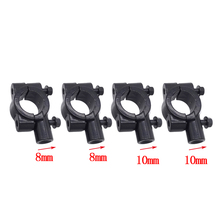 1 Pair Universal 22mm Motorcycle With 8mm Or 10mm Screw Hole Motorcycle Handlebar Rearview Mirror Mount Adapter Holder Clamp