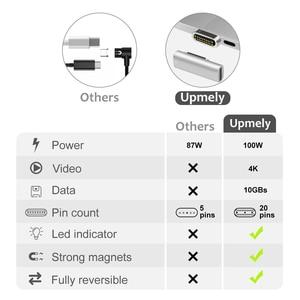 Image 2 - 高品質 20 ピン磁気 USB C アダプタータイプ C コネクタ PD 100 ワット Macbook Pro のための急速充電 huawei 社サムスン