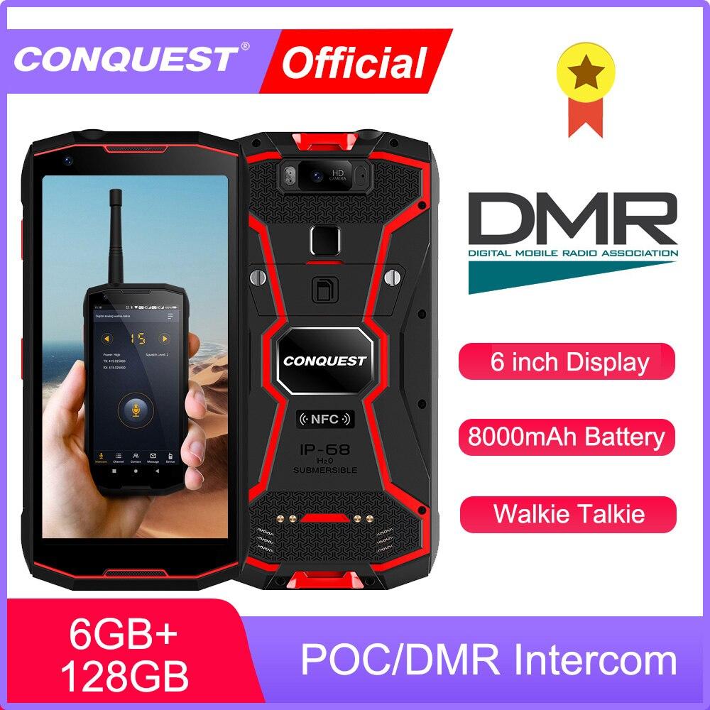 Conquista poc/dmr telefone walkie talkie ip68 smartphones à prova dip68 água áspero smartphone s12 pro telefones celulares
