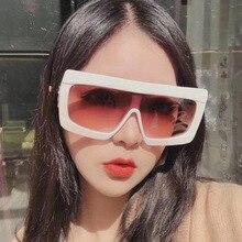 Oversized Square Sunglasses Women 2019 Luxury Brand Fashion Flat Top Vintage Woman Retro Designer Large Female shades