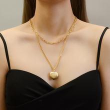 Многослойные ожерелья из нержавеющей стали с золотым покрытием