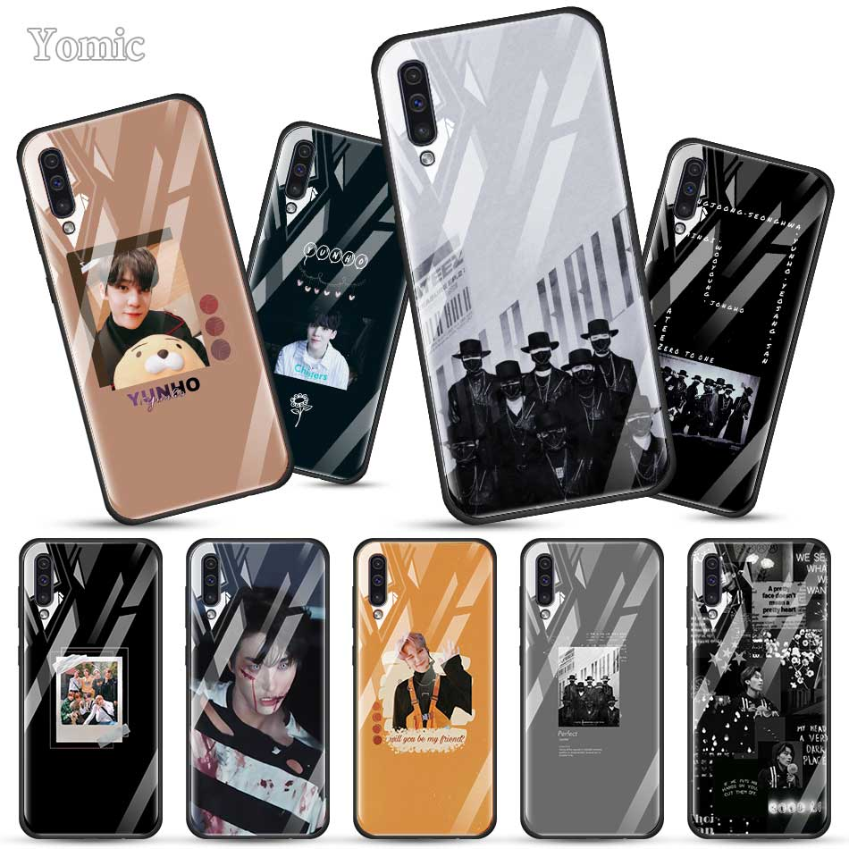 ATEEZ HongJoong SeongHWA Fitted <font><b>Case</b></font> for <font><b>Samsung</b></font> Galaxy A50 A70 A51 A71 A10 A20 A30 S J6 J4 Plus <font><b>A40</b></font> M30s Tempered Glass Phone C image