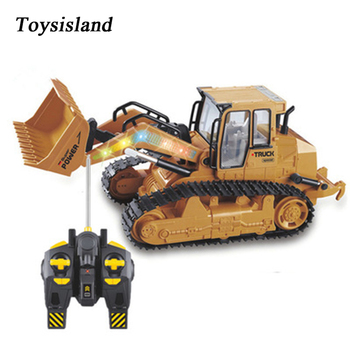 1:12 RC Car Large Simulation 2.4GHz Remote Control Bulldozer with Light Sound Toy Car Model Engineering Car Toy Gift for Boy
