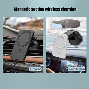 Image 5 - 15W חדש מגנטי אלחוטי מטען לרכב הר עבור iPhone 12 פרו מקס מיני אלחוטי מהיר טעינה אלחוטי מטען לרכב טלפון בעל