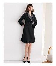 여성 정장 드레스 2019 가을 새로운 컬렉션 허리 라인 스커트 ol 전문 맞는 기질 여성 의류