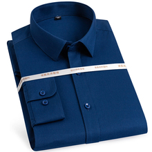 Shirt Basic-Dress Business Long-Sleeve Formal Men's Casual Classic Non-Iron Solid Twill