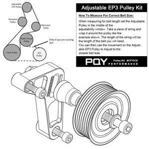 Image 3 - Kit de polea WLR ajustable EP3 para motores Honda 8th 9th Civic All K20 & K24 con tensor automático que mantiene instalado WLR CPY01 A/C