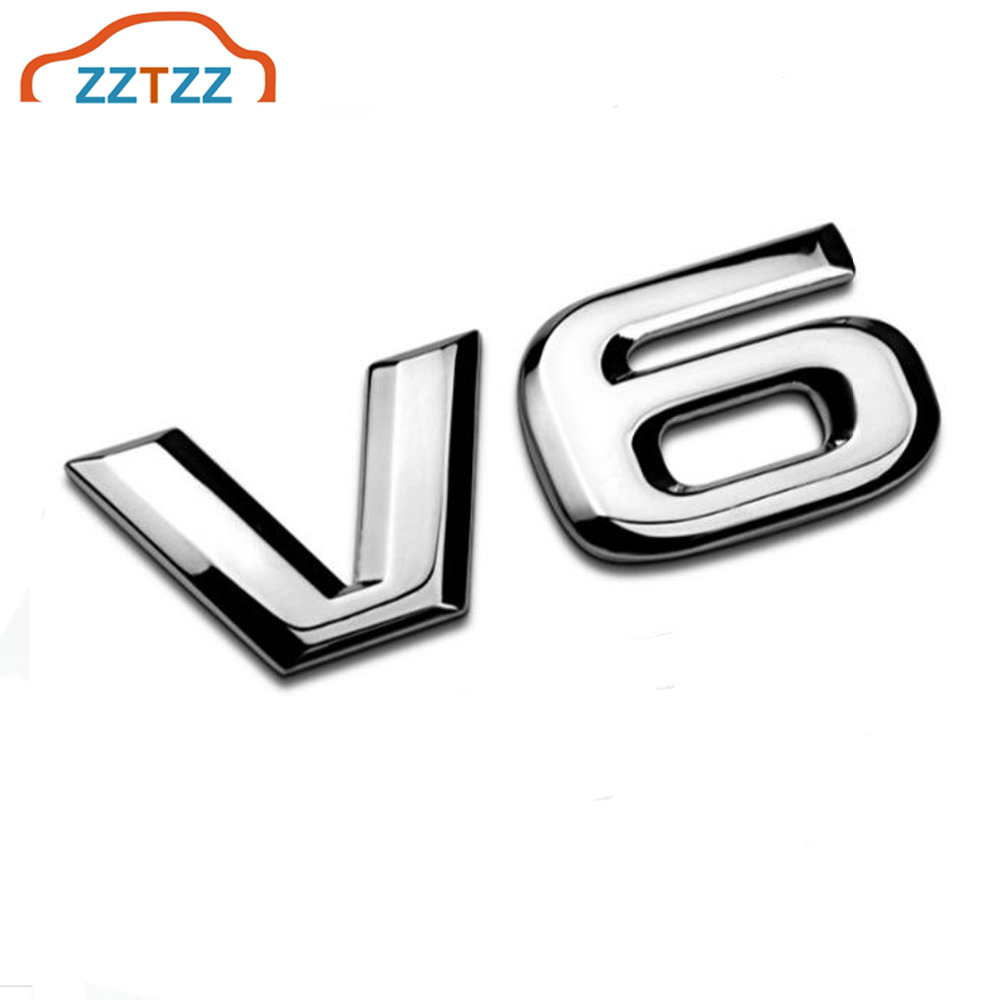 ZZTZZ 3D Metal V6 Engine Display Car Sticker Emblem Badge For Cars Decorative Accessories