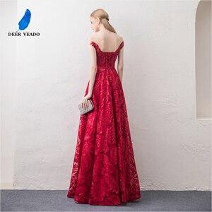 Image 2 - DEERVEADO קצר שרוולים ערב שמלות ארוך אישה אירוע מסיבת שמלות רשמיות שמלת ערב שמלת חלוק דה Soiree XYG822