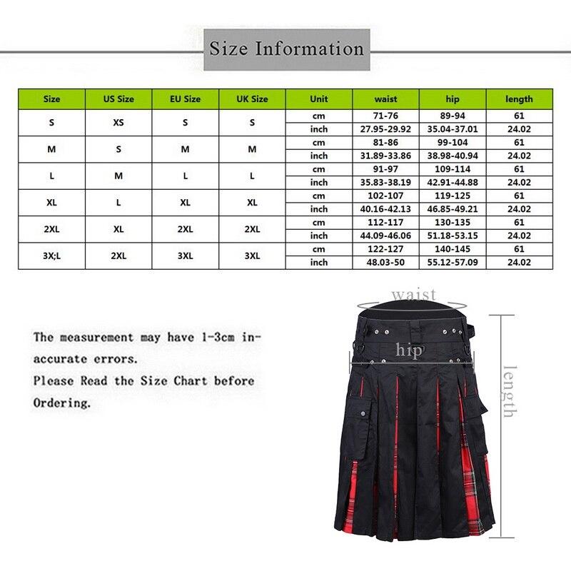 2019 Scottish Kilt Skirts Men 39 s Traditional Plaid Skirts Belt Pleated Bilateral Chain Trousers Men Skirt Gothic Punk Tartan Pant in Harem Pants from Men 39 s Clothing