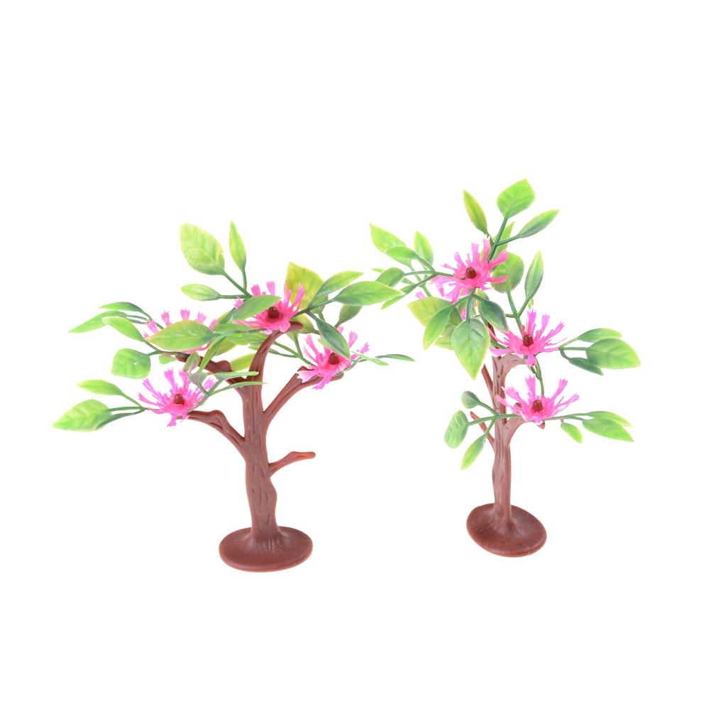 Artificial Decorative Flowers Wreaths Plants Tree Flower Bonsai Fake Flowers Trees Komatsu Flower Classic Toy Doll House Decor