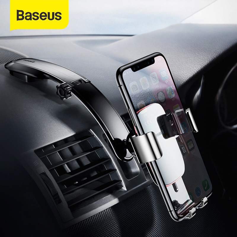 Baseus Car Phone Holder Gravity Smartphone Voiture Support For IPhone Redmi Samsung Foldable Dashboard Paste Car Holder Stand