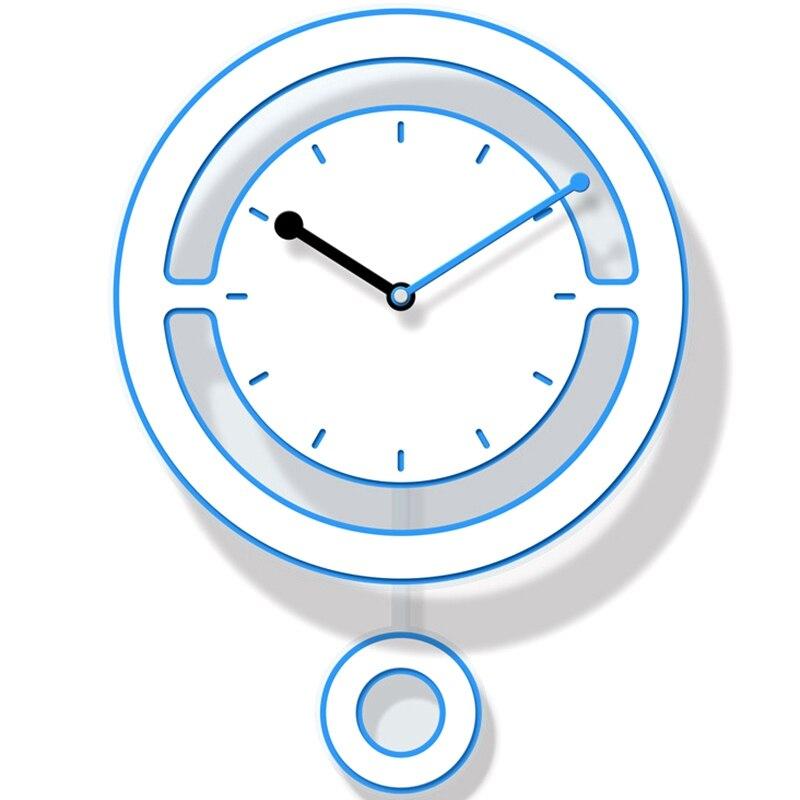 1Pcs Pollution-Free Acrylic Fashion Wall Clock Living Room Creative Mute Bedroom Pendulum Clock Home Modern Clock