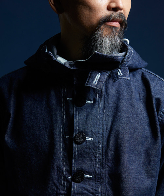 Bronson Cotton Denim Jacket USN DUNGAREE PULLOVER SMOCK PARKA Denim Jacket