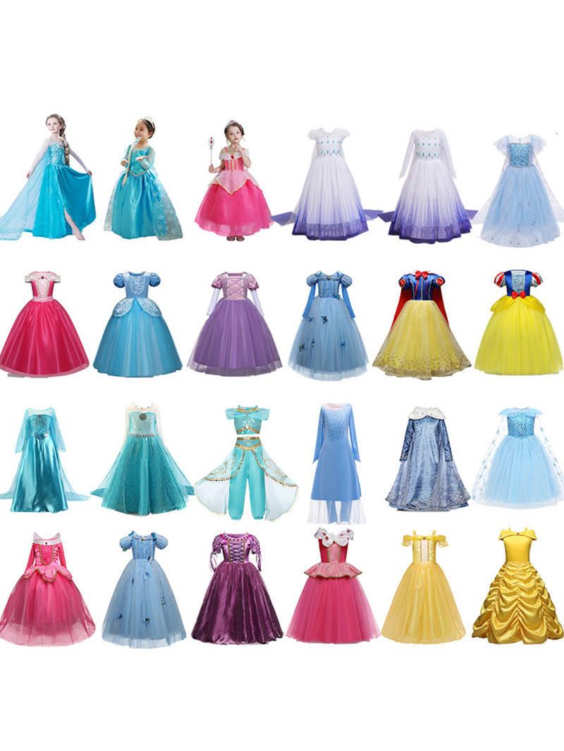 Fancy Dress For Girls Costume Princess Christmas Kids Dresses Halloween Carnival Girl