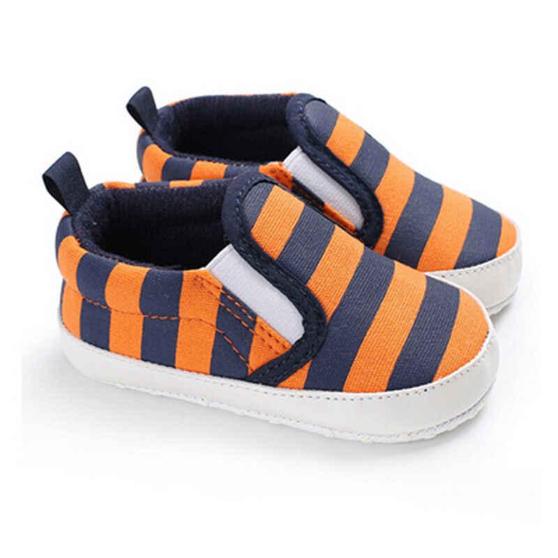 Goocheer nuevo cochecito recién nacido bebé niñas Niños Infantes primero caminantes a rayas zapatos clásicos mocasines Casual zapatos suaves