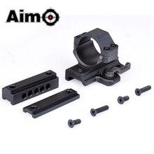 цена на Aim-O Tactical Telescope Base Airsoft Scope Rail QD Mount For 30mm Red Dot Sight Hunting Riflescopes Accessories Optics AO7002