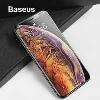 Baseus 0,3mm vidrio templado para iPhone Xs Max XR vidrio Protector de pantalla completo para iPhone Xs Max para iPhone Xsmax